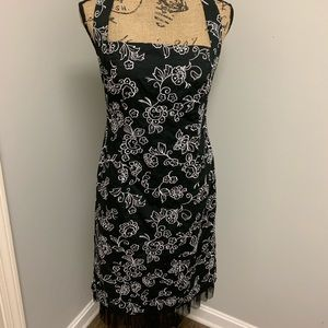 Donna Rocco Dress, black and white, NWT, size 8